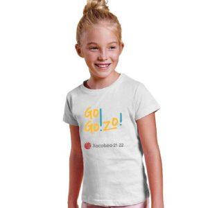 Camiseta NIÑA blanca delante