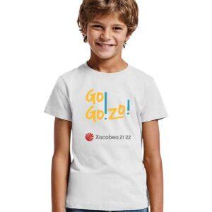Camiseta NIÑO blanca delante